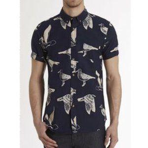 Obey Propaganda Seagull Port Short Sleeve Shirt L